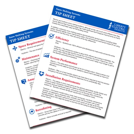 Snow Melting Systems Tip Sheet